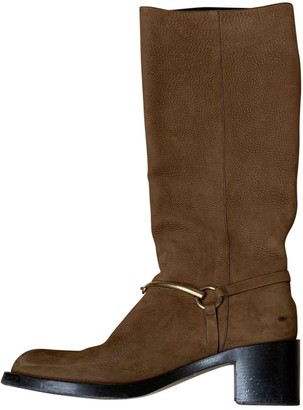 Gucci Brown Leather Boots