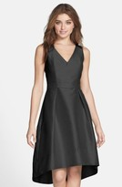 Alfred Sung Women's Satin High/low Fit & Flare Dress