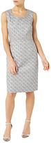 Jacques Vert Petite Jacquard Dress, Silver