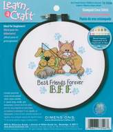 Dimensions Learn-A-Craft-Best Friends Forever-Inch Stamped Cross Stitch Kit