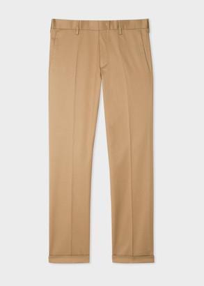 Paul Smith Men's Slim-Fit Sand Stretch-Cotton Chinos