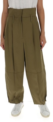 Givenchy High Waisted Military Trousers