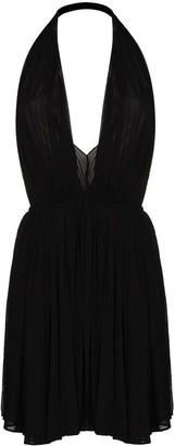 Saint Laurent Halterneck Mini Dress