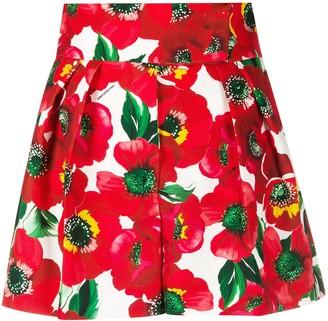 Sara Battaglia Floral Print Shorts