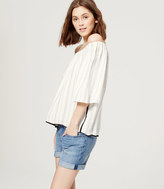 LOFT Striped Off the Shoulder Blouse