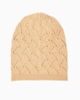 Charming charlie Pointelle Knit Beanie