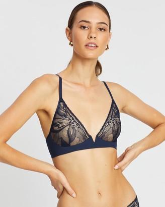 Calvin Klein Petal Lace Plunge Bralette