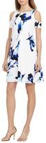 Lauren Ralph Lauren Petites Floral Cold-Shoulder Dress