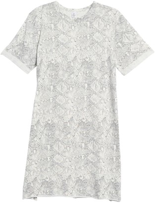 Alternative Teka Snakeskin Print Short Sleeve Sweatshirt Dress