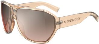 Givenchy Grilamid Nylon Semi-Shield Sunglasses