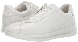 Ecco Aquet Lace (White Cow Leather) Women's Lace up casual Shoes