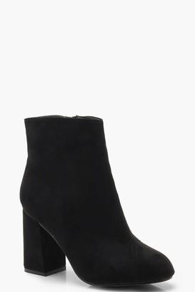 boohoo Extra Wide Width Block Heel Shoe Boots