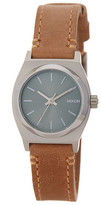 Nixon Women's Small Time Teller Leather Strap Watch