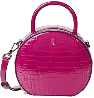 Kate Spade Andi Croc Embossed Canteen Bag (Berry Blitz) Handbags
