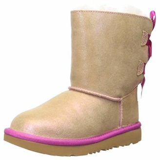 UGG Girls' K Bailey Bow II Shimmer Ankle Boots