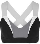 NO KA 'OI No Ka'Oi - Ola Color-block Stretch-jersey Sports Bra - Black
