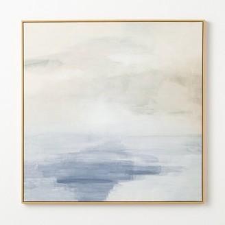 "36"" x 36"" Sky Sea Framed Wall Art - ThresholdTM designed with Studio McGee"