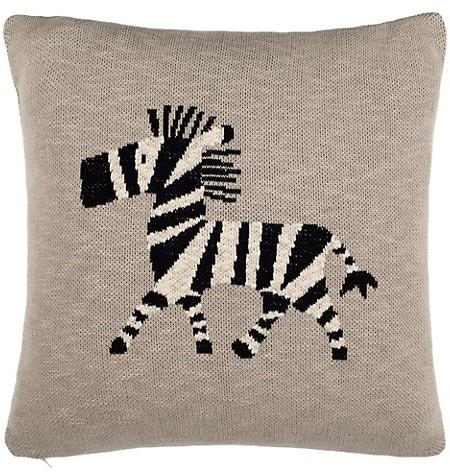 Safavieh Baby's Zebra Graphic Cotton Throw Pillow