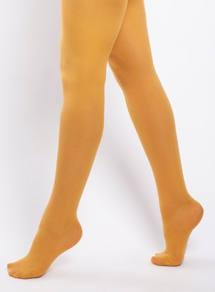 Evans **Scarlett & Jo Mustard 50 Denier Tights