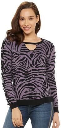 Rock & Republic Women's Lace-Up Sleeve Sweater