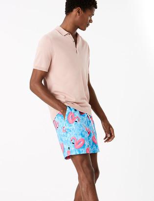 Marks and Spencer Quick Dry Flamingo Print Swim Shorts