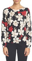 CeCe Women's Floral Print Sweater