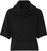 Alice + Olivia Cropped wool-blend turtleneck sweater
