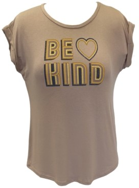 Style&Co. Style & Co Plus Size Be Kind-Graphic Top, Created for Macy's
