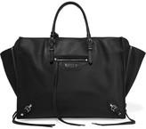 Balenciaga Papier B4 Zip Around Textured-leather Tote - Black