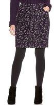 M&Co Petite floral print cord skirt