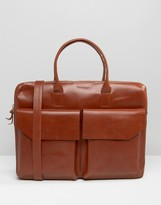Royal Republiq Leather Bag Double Pocket In Brown