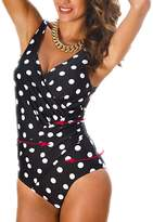 Passionate Adventure Women's Sexy Slim One Piece Monokini Tummy Control Swimsuit Plus Size Swimwear