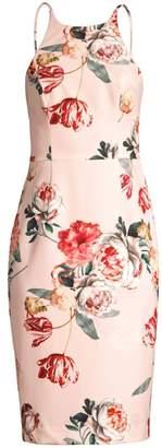 Black Halo Montego Floral Sheath Dress