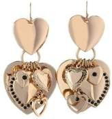 BCBGeneration Queen of Hearts Crystal Multi Heart Earrings