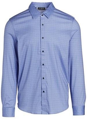 Saks Fifth Avenue MODERN Jacquard Print Sport Shirt