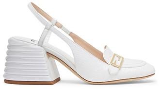 Fendi White leather promenade