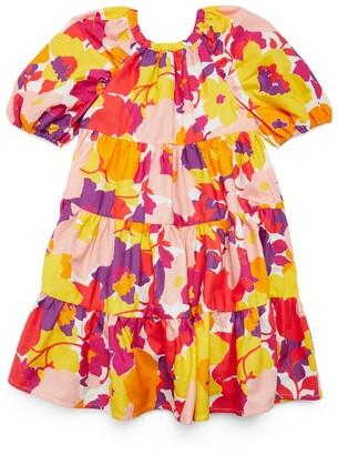 Il Gufo Floral Print Dress (3-12 Years)