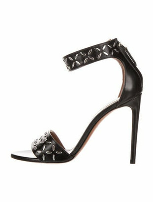 Alaia 2019 Leather Sandals w/ Tags Black