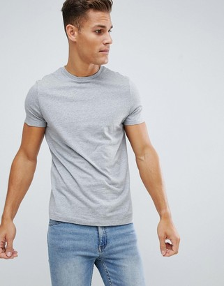 Asos Design DESIGN t-shirt with crew neck in gray marl