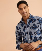 Brooks Brothers Gingham Flower-Print Shirt