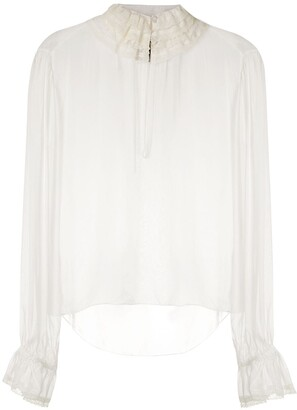 Andrea Bogosian silk Plus blouse