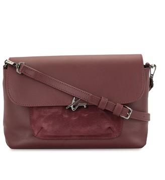 agnès b. Contrast-Panel Cross-Body Bag