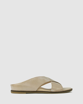 EOS Women's Neutrals Flat Sandals - Fleur - Size One Size, 37 at The Iconic