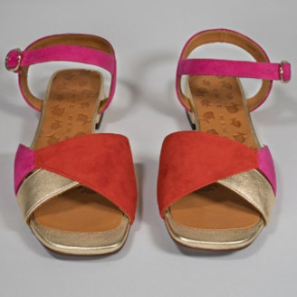 Chie Mihara Pink Gold Buckle Closure Taila Sandals - 36