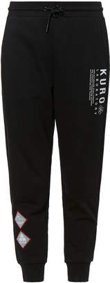 Evisu Warning Sign And Logo Print Sweatpants