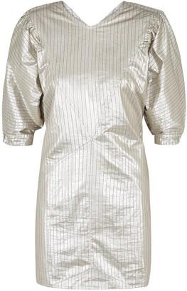 Isabel Marant Radela silver lame mini dress