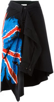 Faith Connexion hand-painted flag shirt skirt - women - Cotton - M
