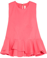 Marni Cotton-poplin Peplum Top - Pink