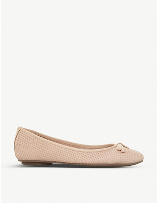Dune Harps leather ballet flats