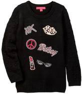 Betsey Johnson Team Betsey Pom Pom Sweater (Big Girls)